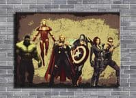 THE AVENGERS - CUT OUT ART SQUAD canvas print - self adhesive poster - photo print